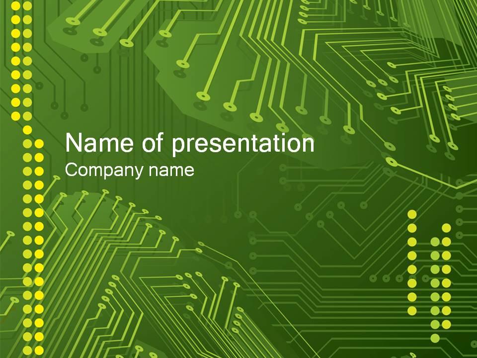 电子电路板背景科技ppt模板